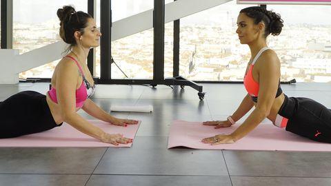 Physical fitness, Pilates, Shoulder, Yoga, Leg, Sitting, Exercise, Yoga mat, Joint, Stretching,