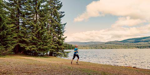 Woman Running Oregon Timberline Half