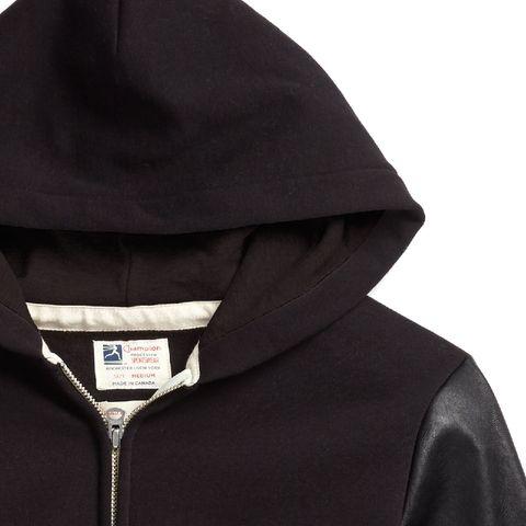 Sleeve, Collar, Textile, Jacket, Zipper, Hood, Sweatshirt, Fictional character, Costume accessory, Pocket,