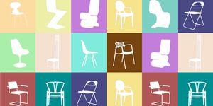 Un repaso a algunos de los modelos más representativos de la historia del diseño. ¿Reconoces estas sillas? Desde la Thonet a la Panton, pasando por clásicos nórdicos y símbolos de los mejores diseñadores y artistas.