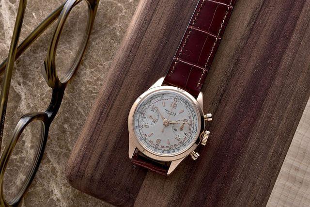 1960s invicta chronograph in rose gold