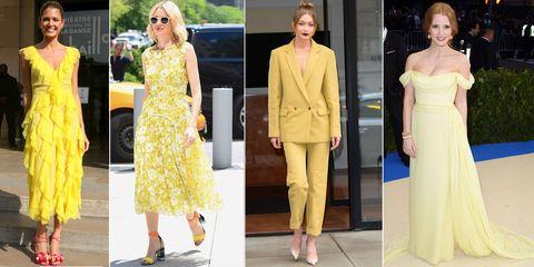 El amarillo es el color que marca tendencia en los looks de invitada ... 1b7c5e8df7