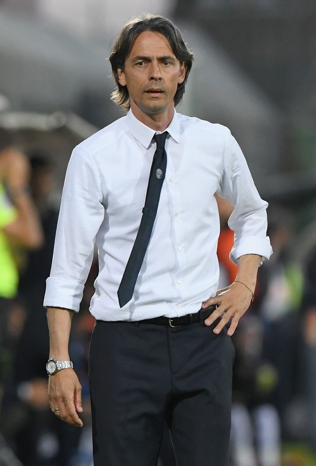 venice, italy   april 27 filippo inzaghi head coach of venezia fc looks on during the serie b match between venezia fc and us citta di palermo at stadio pier luigi penzo on april 27, 2018 in venice, italy photo by alessandro sabattinigetty images
