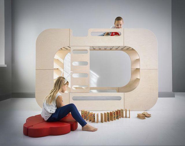 il letto a castello per bambini all in one di io kids design