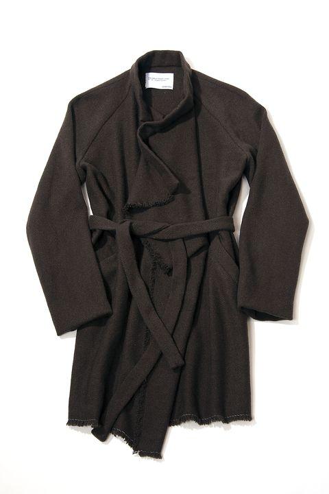 Clothing, Outerwear, Sleeve, Coat, Robe, Trench coat, Overcoat, Dress, Wrap,