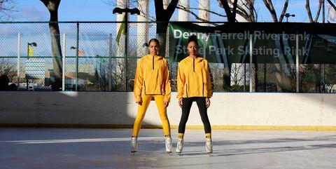 Yellow, Ice rink, Recreation, Ice skating, Skating,