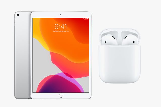 ipad air and airpods