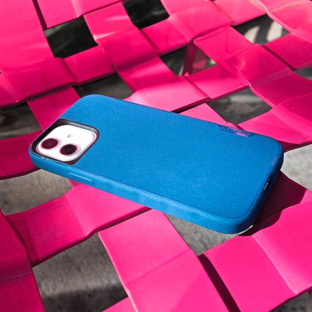 smartish gripmunk iphone case on pink chair