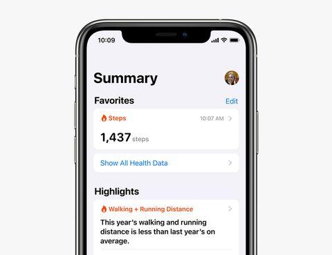 health app on iphone
