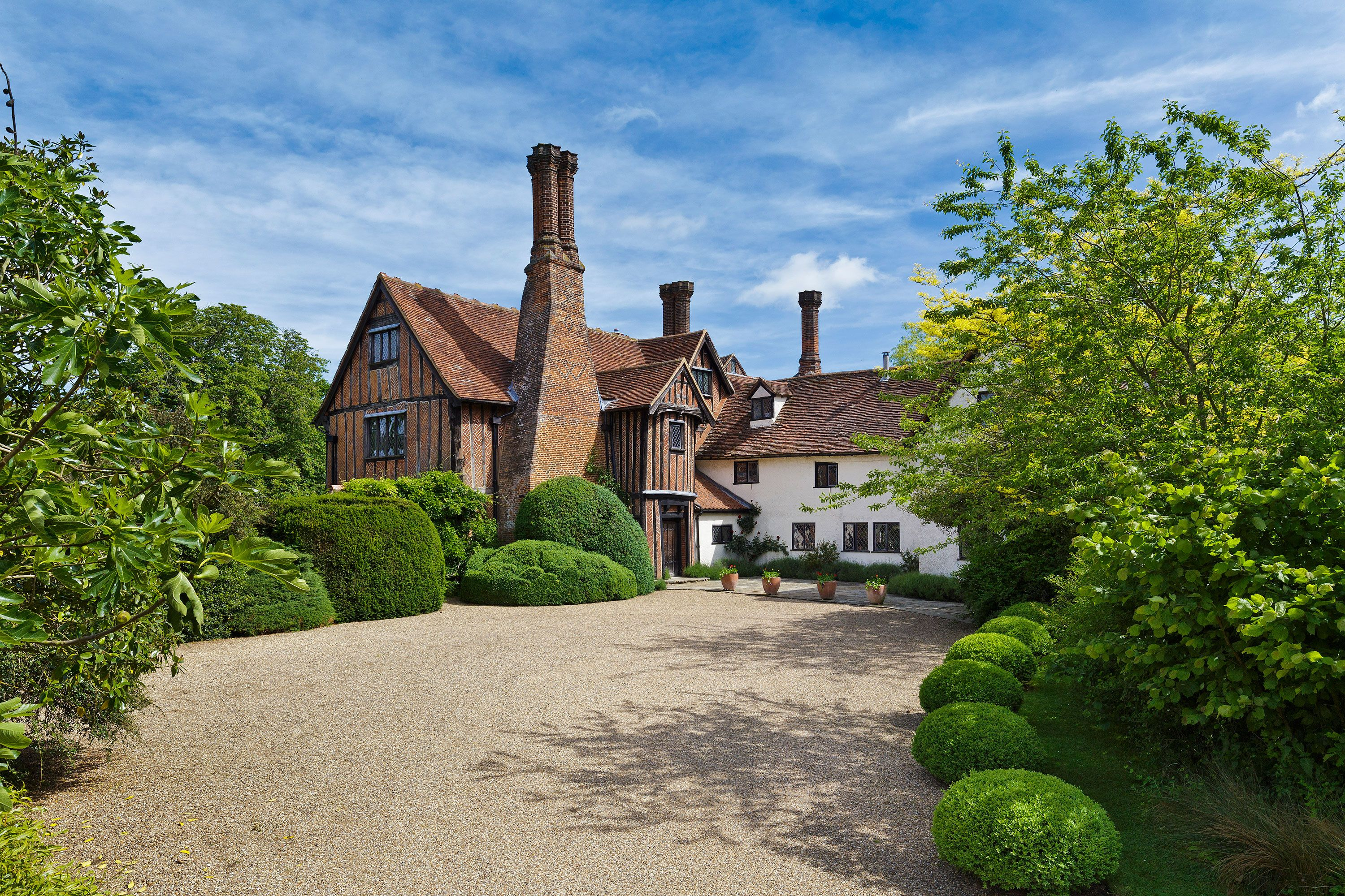 This Grade I-listed moated hall is steeped in history
