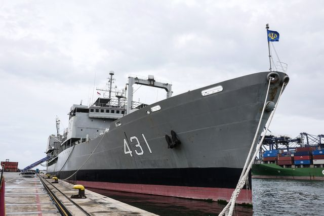 islamic republic of iran navy ship 'kharg' visits indonesia