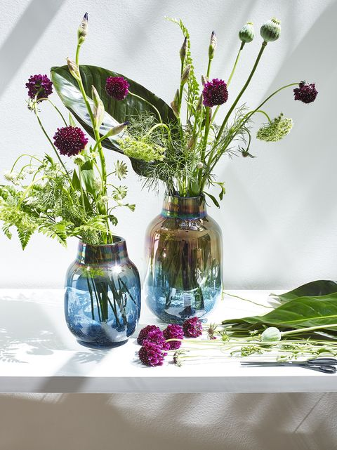 This Iridescent Glass Vase From Oliver Bonas Will Give Your Living