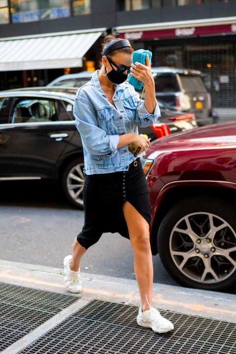 irina shayk with hunter reverse cowgirl, and 'ugly sneakers'