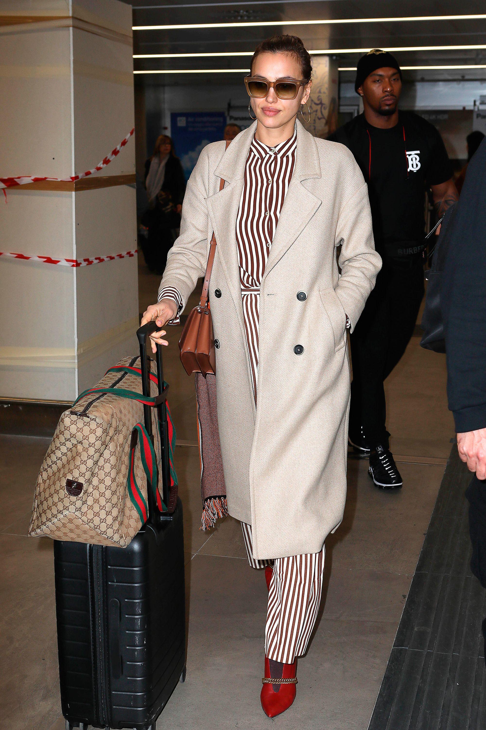 Irina Shayk look viajar