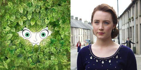 Green, Face, Tree, Eye, Animated cartoon, Grass, Photography, Illustration, Plant, Smile,