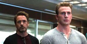 Avengers Endgame, Iron Man and Captain America, Robert Downey Jr and Chris Evans