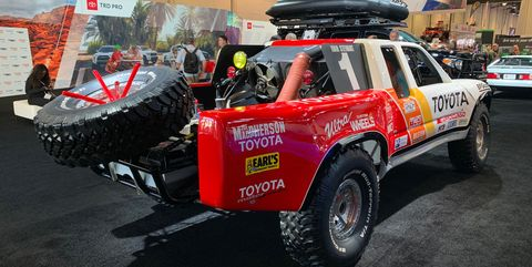 Ironman Stewart Toyota Trophy Truck concept at SEMA