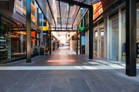 quiet melbourne streets and landmarks during coronavirus pandemic