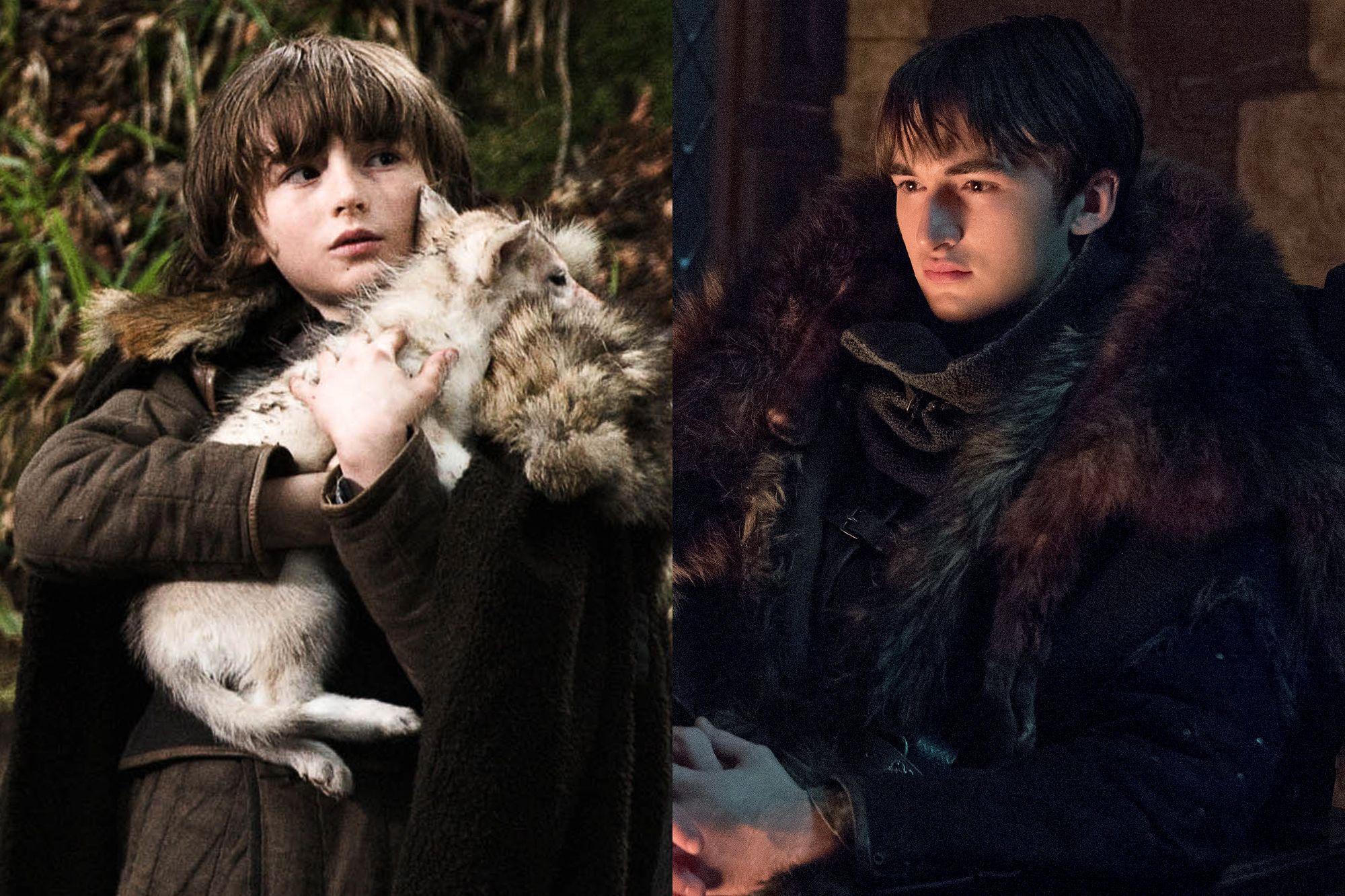 Isaac Hempstead Wright as Bran Stark Season One to Season Eight.