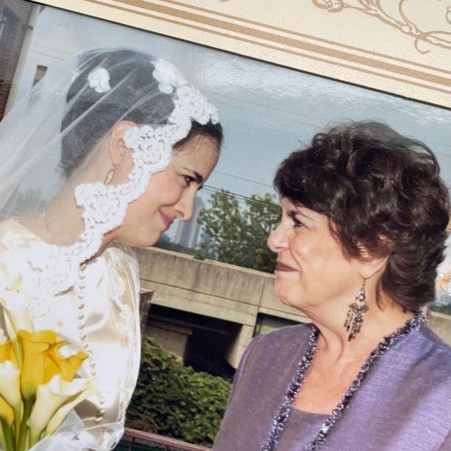 isabel gonzález whitaker and her mother sara gonzález at isabel's wedding