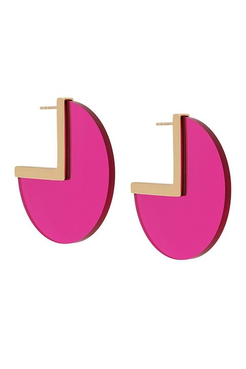 Pink, Earrings, Font, Magenta, Logo, Fashion accessory, Material property, Jewellery,