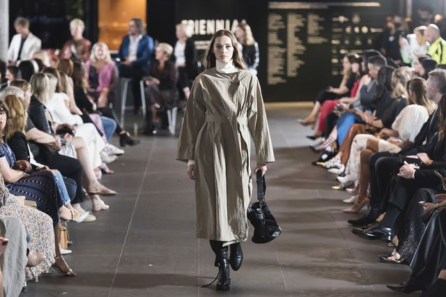 melbourne, australia   march 11 a model showcases designs by isabel marant during the gala runway at melbourne fashion festival at national gallery of victoria on march 11, 2021 in melbourne, australia photo by naomi rahimwireimage