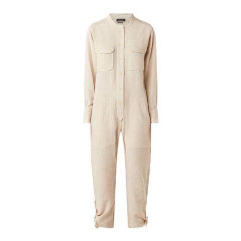 isabel marant tacaia tapered fit utility jumpsuit van zijde
