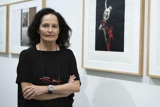 spanish photographe isabel muñoz attends the presentation of the exhibition 'twelve photographers' at the prado museum in madrid, spain, 20 september 2018 on the occasion of the bicentennial of the prado museum, the foundation amigos del museo del prado prado museum's friends foundation has invited twelve contemporary photographers to work with artworks displayed at the museum the result is twenty four photographs collection that tells the photographers' own view of some of the pieces treasured by the prado museum the event will run from 21 september 2018 to 13 january 2019 photo by oscar gonzaleznurphoto via getty images