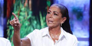 Isabel Pantoja en el plató de Supervivientes 2019