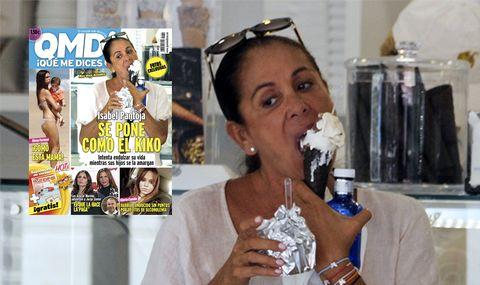 Isabel Pantoja se pone como el kiko a helados. FOTOS EXCLUSIVAS de QMD!