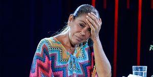 Isabel Pantoja en el plató de Supervivientes