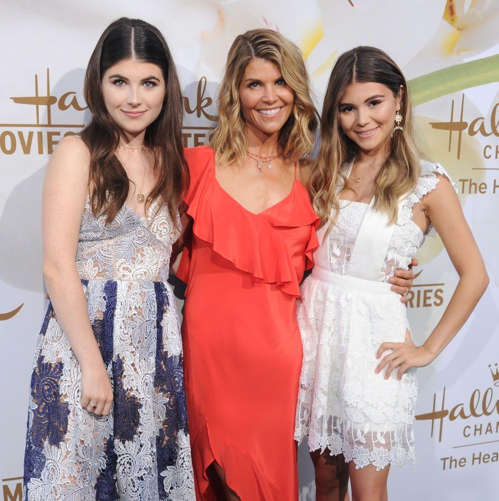 Lori Loughlin with Isabella and Olivia Jade
