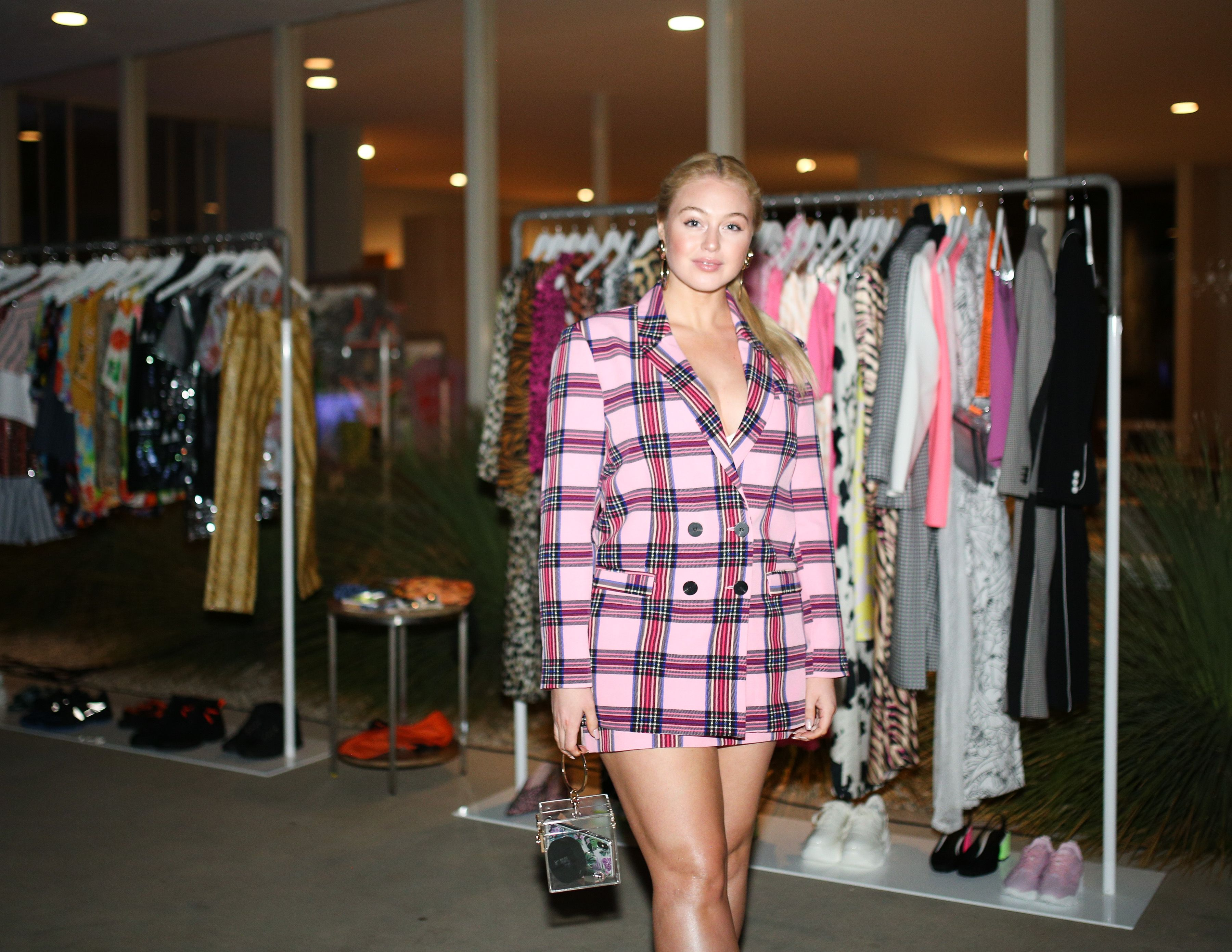 Iskra Lawrence Iskra Lawrence celebrates the latest Asos Design Collection at a dinner party hosted by Kiersey Clemons and stylists Wayman Bannerman and Micah McDonald in Beverly Hills, California on March 28.