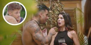 Andrea tontea con Óscar y Julián en 'La isla de las tentaciones' mientras Ismael la echa de menos