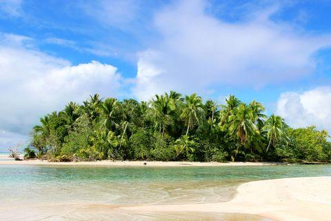 Body of water, Vegetation, Coastal and oceanic landforms, Sky, Cloud, Shore, Coast, Tropics, Woody plant, Sand,