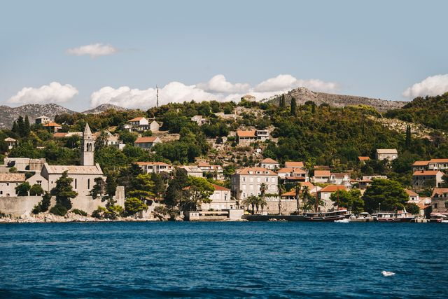 village in lopud island, croatia