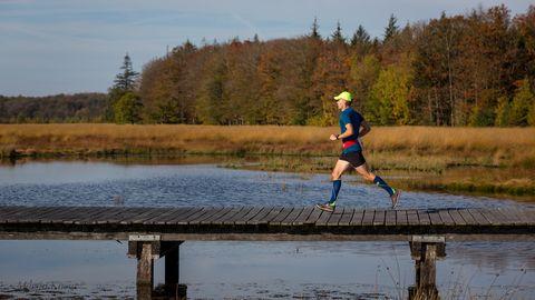 Outdoor recreation, Water, Recreation, Running, Sky, Endurance sports, Individual sports, Reservoir, Lake, Ultramarathon,