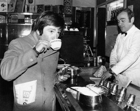Enzo Cerusico Has Breakfast In A Bar