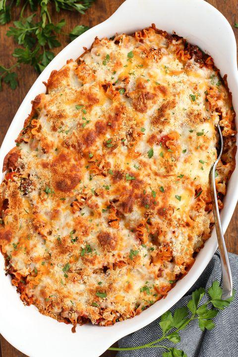 italian dinner lasagna hotdish