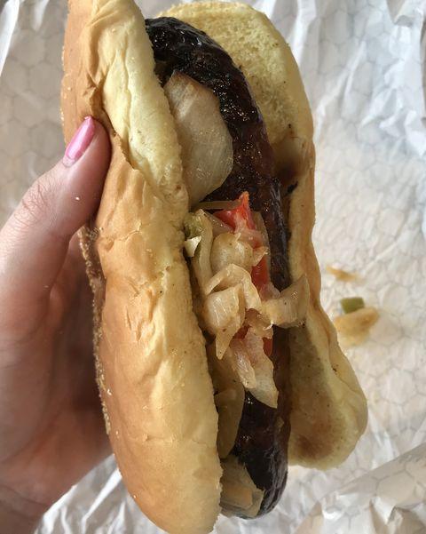 Food, Cuisine, Dish, Junk food, Fast food, Hot dog bun, Comfort food, Ingredient, Chicago-style hot dog, Snack,