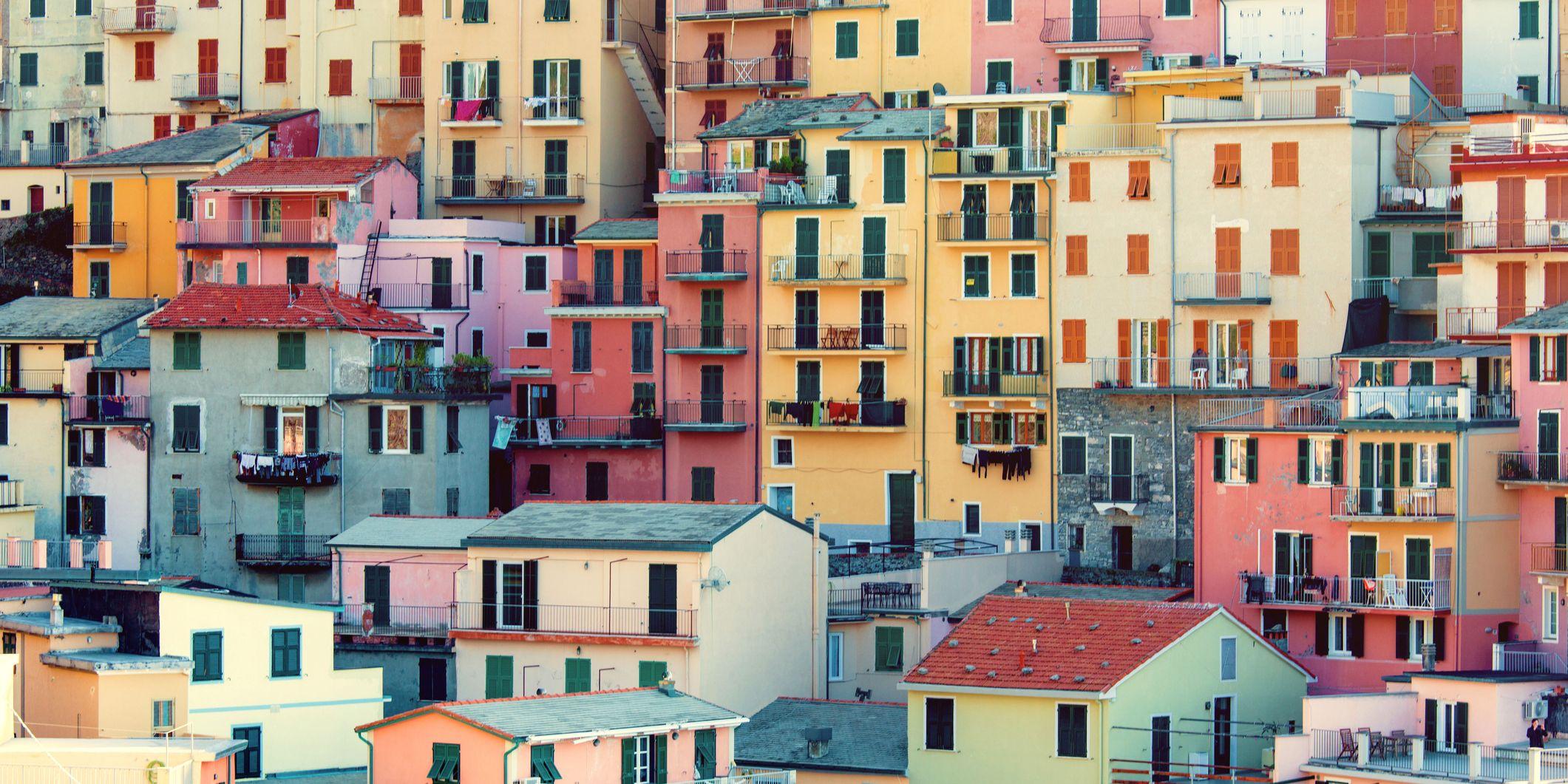 Italy, Liguria, Cinque Terre, La Spezia district, Manarola, Colorful houses