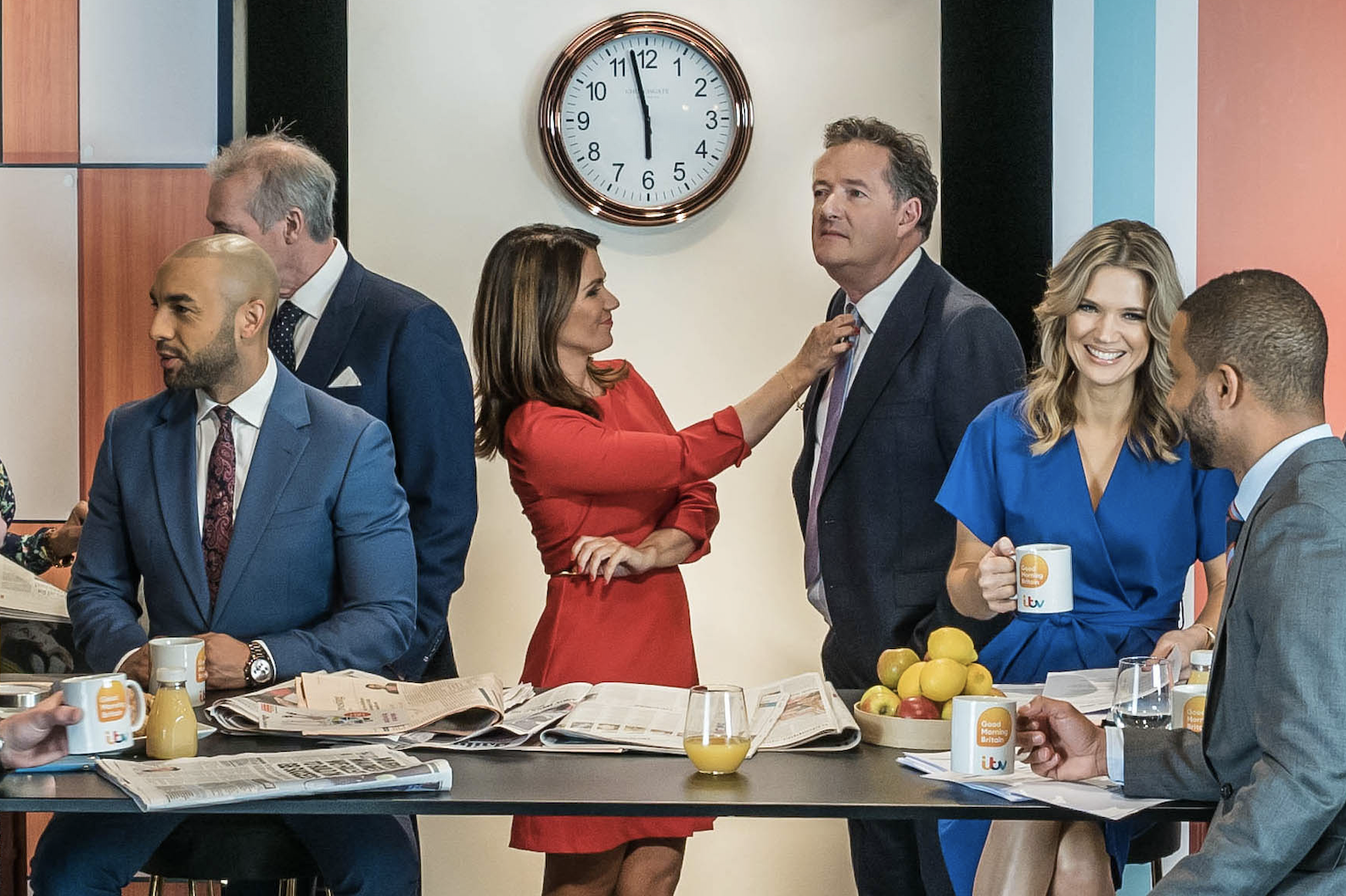 Holly Willoughby, Phillip Schofield and Piers Morgan get ready for the morning in new ITV daytime promo
