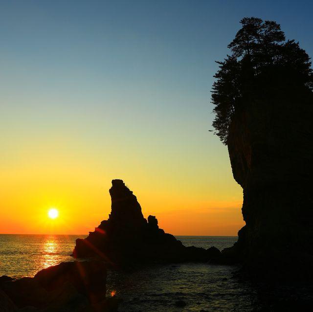 iwate prefecture sea sunrise