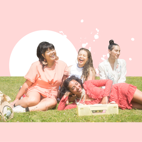 People, Fun, Pink, Event, Friendship, Sitting, Sharing, Happy, Family, Grass,
