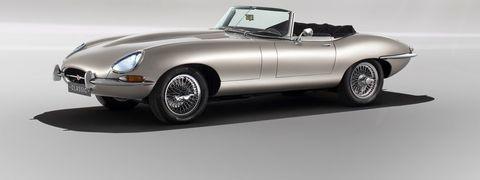 Land vehicle, Vehicle, Car, Automotive design, Jaguar e-type, Convertible, Sports car, Classic car, Jaguar, Automotive wheel system,
