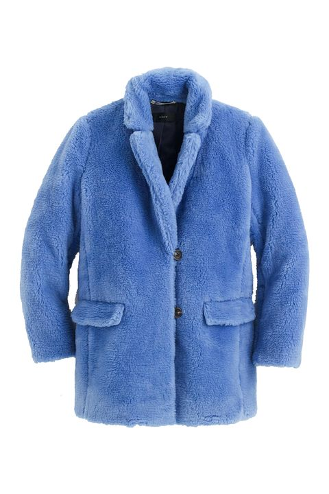 Clothing, Outerwear, Blue, Jacket, Sleeve, Cobalt blue, Electric blue, Coat, Top, Collar,