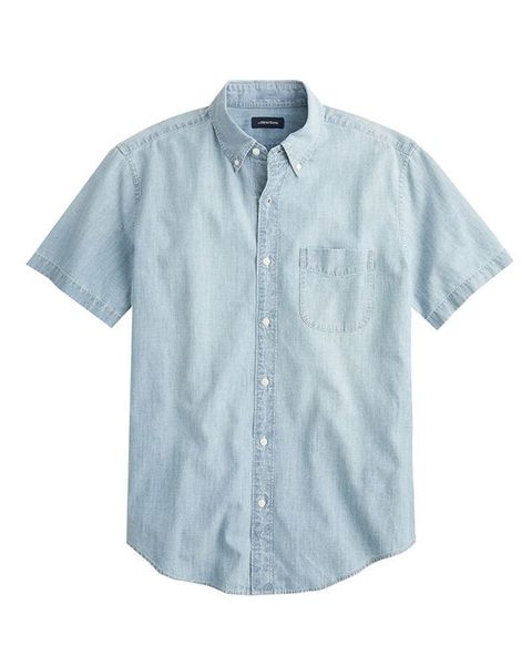 Clothing, Sleeve, White, Blue, Shirt, Button, Denim, T-shirt, Collar, Outerwear,
