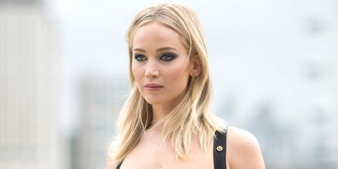 d91c6e0ea63 Jennifer Lawrence on Versace Revealing Dress in Cold Controversy - J ...