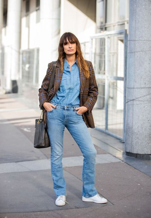 Jeans, Clothing, Denim, Street fashion, Blue, Fashion, Jacket, Outerwear, Footwear, Blazer,