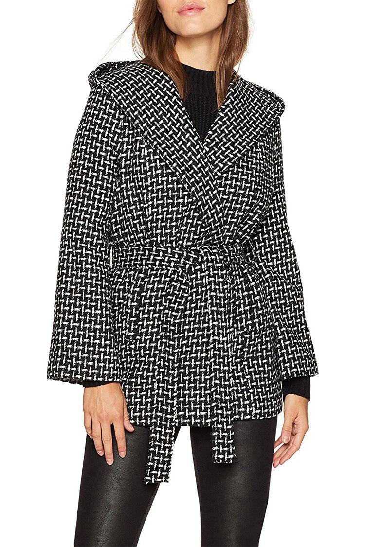 bb dakota black and white wrap jacket